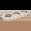 Рамка (овал) Выбеленный дуб с золотой патиной для внутреннего монтажа