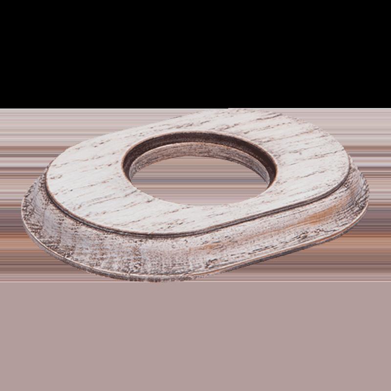 Рамка (овал) Выбеленный дуб с коричневой патиной для внутреннего монтажа
