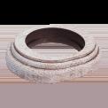 Рамка (овал) Выбеленный дуб с коричневой патиной для наружного монтажа