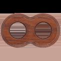 Рамка (восьмерка) Дуб коричневый для внутреннего монтажа