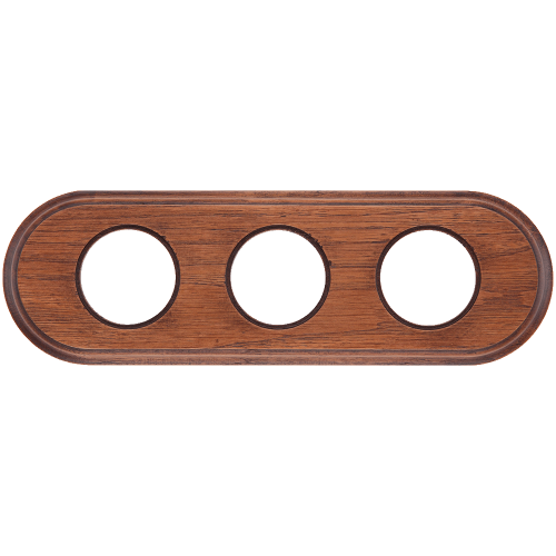 Рамка (овал) Дуб коричневый для внутреннего монтажа