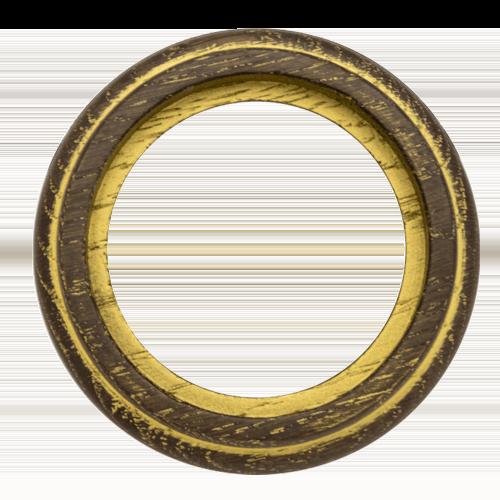 Рамка (восьмерка) Дуб коричневый с золотом для наружного монтажа