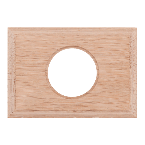 Рамка (прямоугольник) Дуб натуральный для внутреннего монтажа