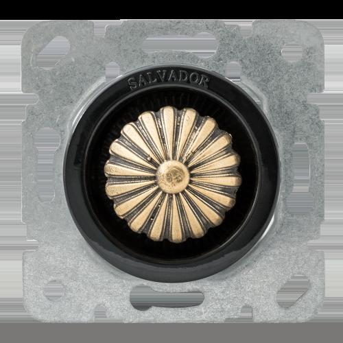 Выключатель (диммер) для внутреннего монтажа Salvador Ретро черная серия