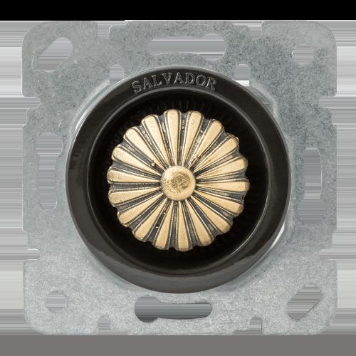 Выключатель (диммер) для внутреннего монтажа Salvador Ретро коричневая серия
