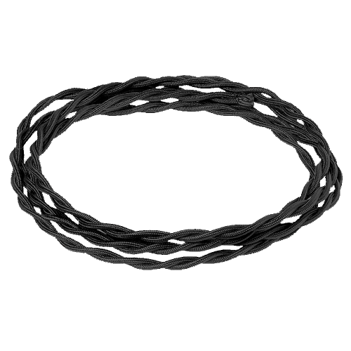 Электрический витой провод, цвет Черный