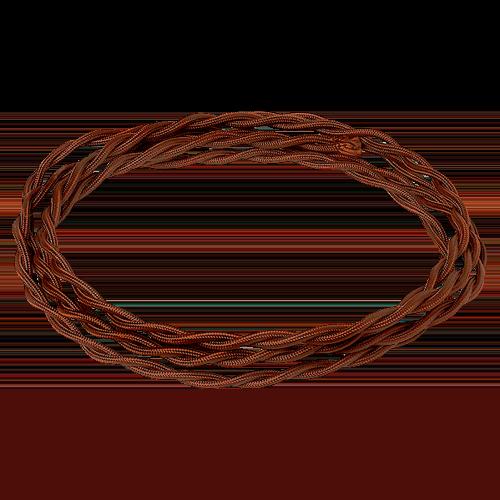 Электрический витой провод, цвет Шоколад