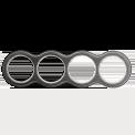 Рамка (восьмерка) Salvador Венге с серебряной патиной