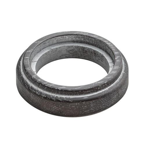 Рамка (восьмерка) Венге с серебряной патиной для элементов с декоративными накладками