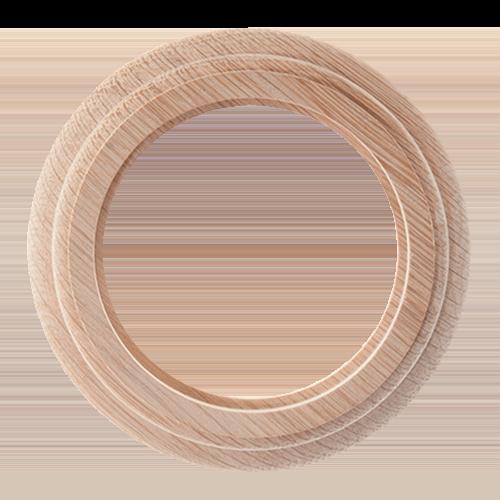 Рамка (восьмерка) НА БРЕВНО Дуб натуральный для наружного монтажа