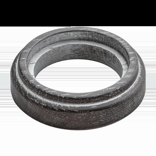 Рамка (восьмерка) НА БРЕВНО Венге с серебряной патиной для наружного монтажа