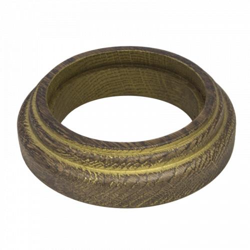Рамка (восьмерка) Дуб коричневый с золотой патиной для наружного монтажа