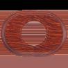 Рамка (овал) Salvador Вишня для внутреннего монтажа