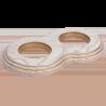 Рамка (восьмерка) Выбеленный дуб с золотой патиной для внутреннего монтажа