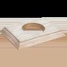 Рамка (прямоугольник) Выбеленный дуб с золотой патиной для внутреннего монтажа