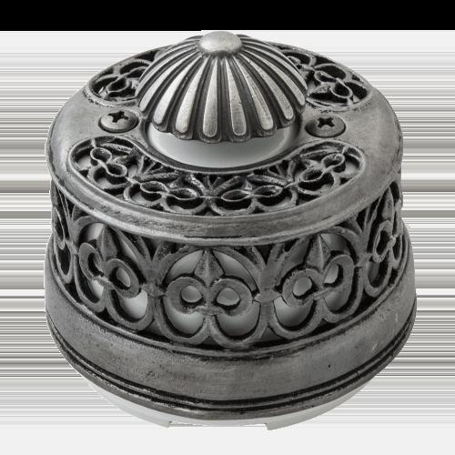 """Выключатель (диммер) Salvador с декоративной накладкой """"Серебро"""""""