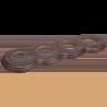 Рамка (восьмерка) Венге с золотой патиной для внутреннего монтажа