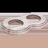 Рамка (восьмерка) Выбеленный дуб с коричневой патиной для внутреннего монтажа