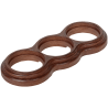 Рамка (восьмерка) Дуб коричневый для наружного монтажа