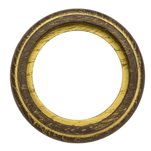 Рамка (восьмерка) Дуб коричневый с золотой патиной для элементов с декоратиными накладками наружний монтаж