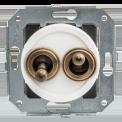 Тумблерный выключатель для внутреннего монтажа Salvador Ретро белая сери