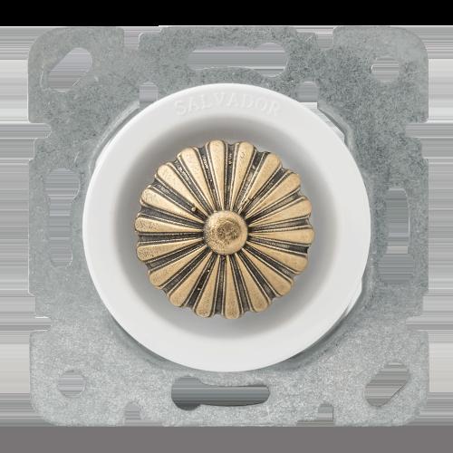 Выключатель (диммер) для внутреннего монтажа Salvador Ретро белая серия