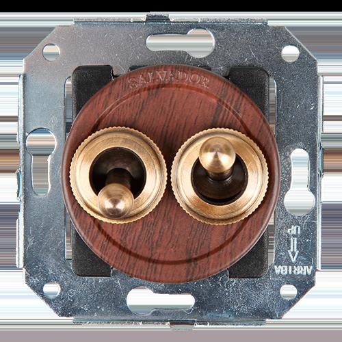 Тумблерный выключатель для внутреннего монтажа Salvador Ретро Вишня