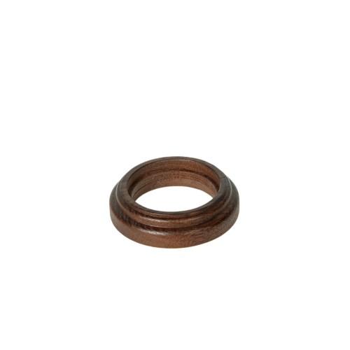 Рамка (восьмерка) НА БРЕВНО Дуб коричневый для наружного монтажа