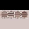 Рамка (восьмерка) Выбеленный дуб с коричневой патиной для наружного монтажа