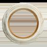 Рамка (восьмерка) Выбеленный дуб с золотой патиной для наружного монтажа