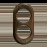 Рамка (овал) Дуб зеленый для наружного монтажа
