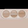 Рамка (овал) Выбеленный дуб с золотой патиной для наружного монтажа