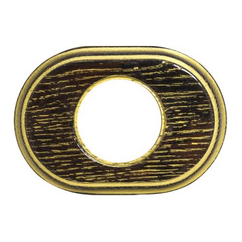 Рамка (овал) Венге с золотой патиной (глянец) для внутреннего монтажа