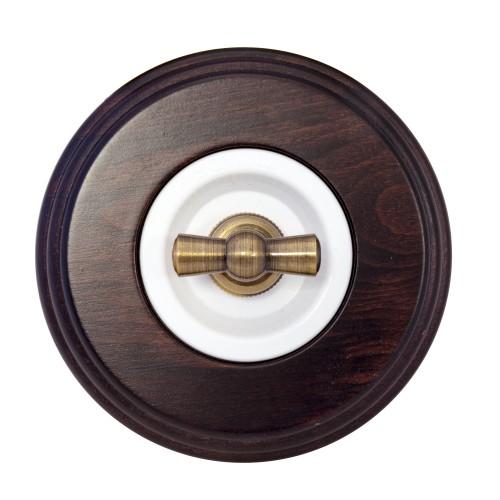Комплект - Выключатель для внутреннего монтажа белая серия + рамка