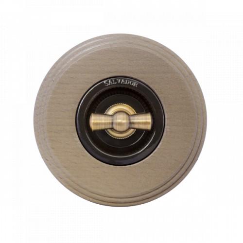 Комплект - Выключатель для внутреннего монтажа коричневая серия + рамка