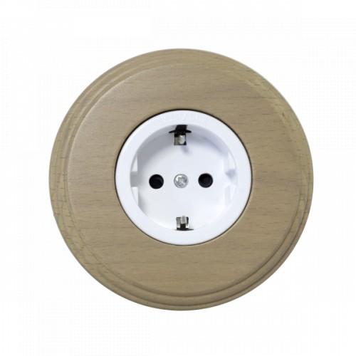 Комплект - Розетка для внутреннего монтажа белая серия + рамка