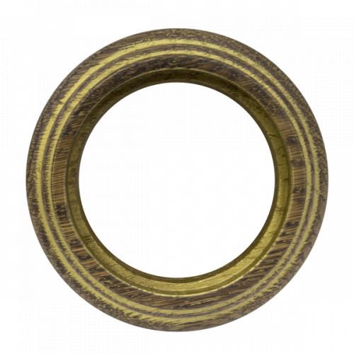 Рамка (восьмерка) Дуб коричневый с золотой патиной наружний монтаж