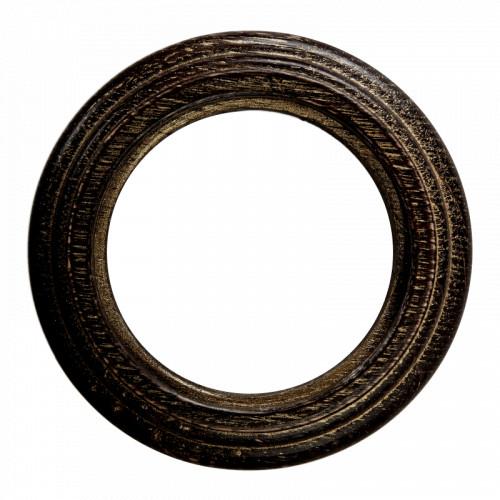Рамка (восьмерка) Венге с золотой патиной для наружного монтажа